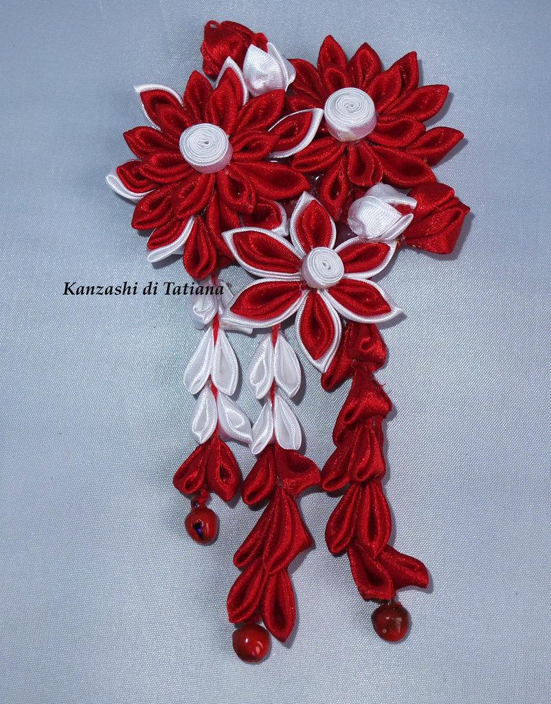 Tsumami kanzashi tradizionale 9 piccolo