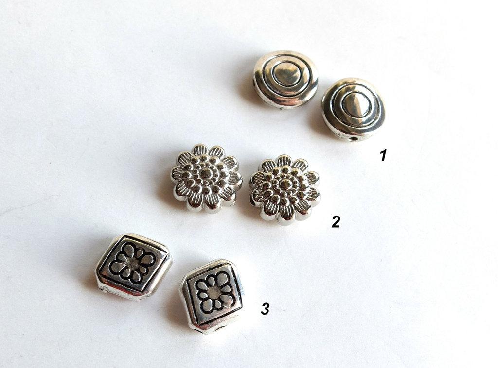 10  Distanziatori in argento tibetano   DIS17-26-28