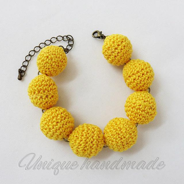 Bracciale crochet mimosa