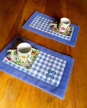 Piccole tovagliette per un caffè you and me - handmade
