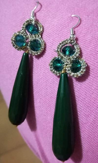 Orecchini trifoglio verdi