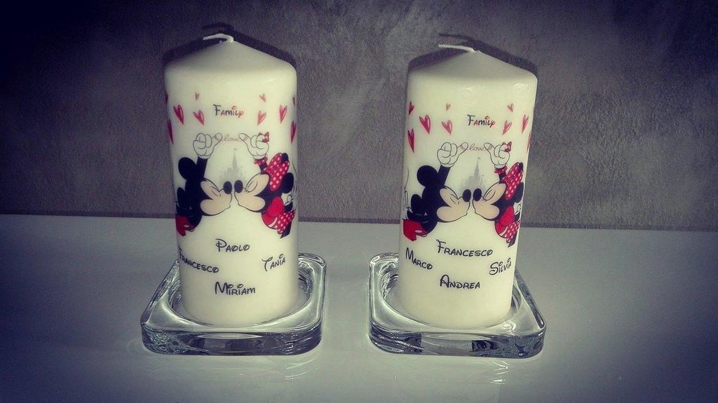 Candele decorate personalizzate
