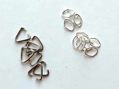 50 Anellini silver plated  FER 10-16