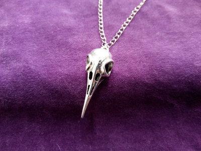 *Ciondolo di teschio di corvo con catena - Raven skull necklace*