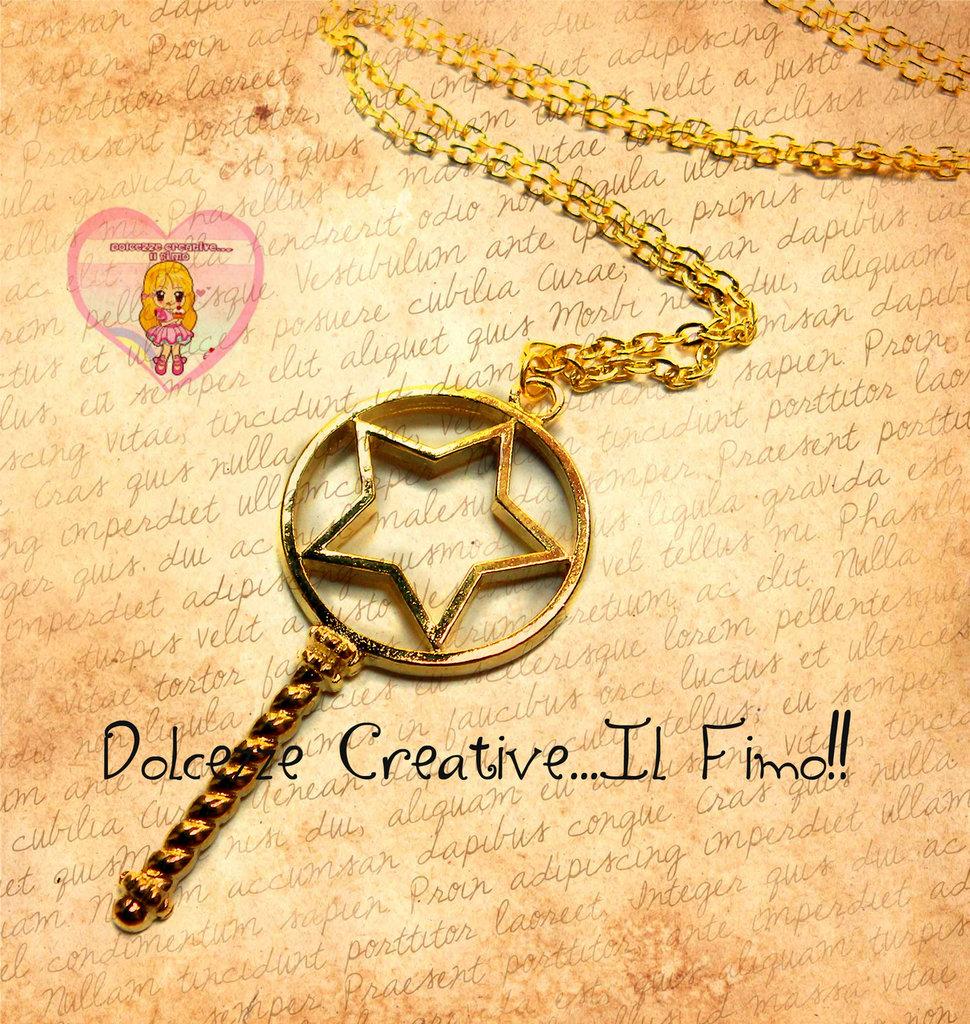 Collana Con scettro a forma di stella - kawaii handmade pastel goth