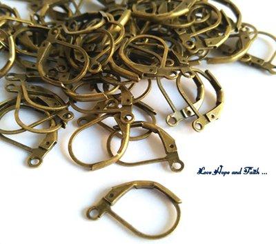LOTTO 1 paio di monachelle in ottone color bronzo (14mm) (cod.3 ottone)