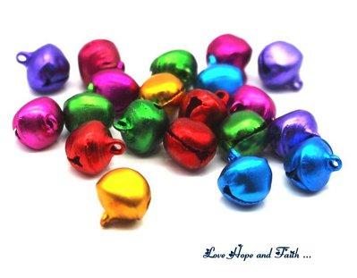 LOTTO 100 campanellini colorati (6mm) (cod.new)