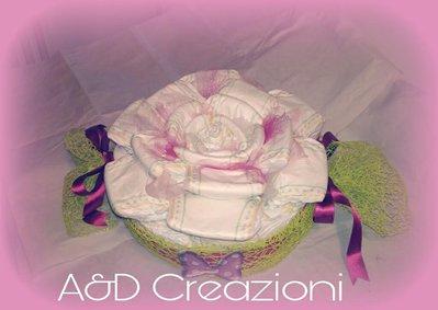 torta di pannolini rosa