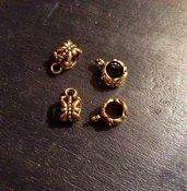 Gancio reggi charm di colore dorato set di 10