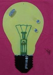 lampadina  memo magnetica da parete