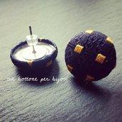 Orecchini con stoffa riciclata da cravatte vintage di seta + anello in omaggio
