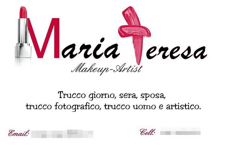 Biglietto realizzato per Maria Teresa.