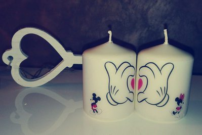 Candele decorate Micky Mouse e Minnie