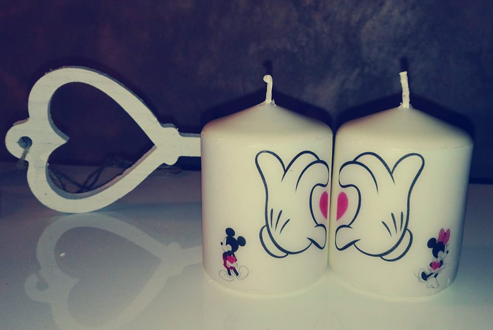 Candele decorate Micky Mouse e Minnie