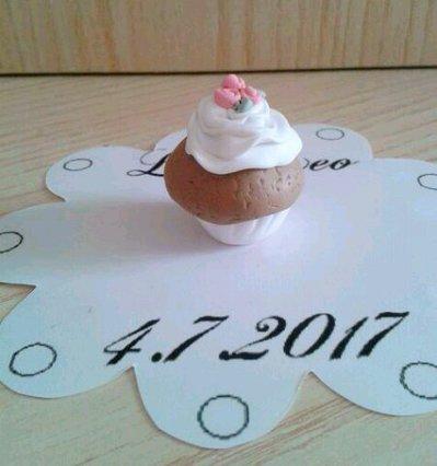Segnaposto matrimonio cupcake muffin in fimo