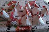 Decorazioni  Pasquali segnaposto galline  in stoffa