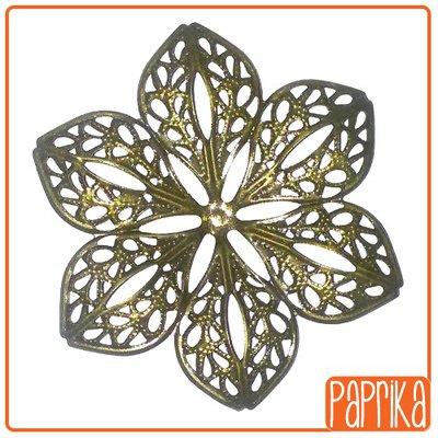 2 Filigrane bronzo a fiore
