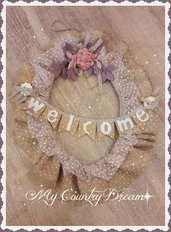 "Ghirlanda Shabby chic ""Welcome"""