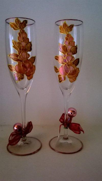 coppia di calici in vetro