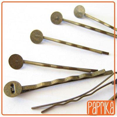 2 Forcine bronzo con base piatta per applicazioni