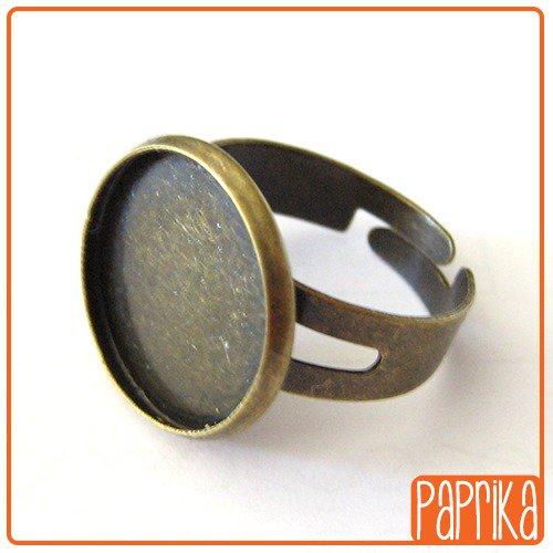 Base anello regolabile per cabochon 16mm