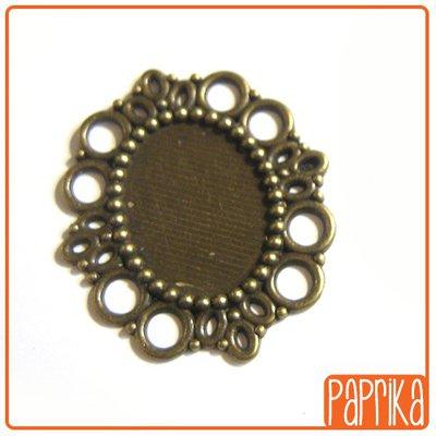 Base cameo color bronzo stile vintage