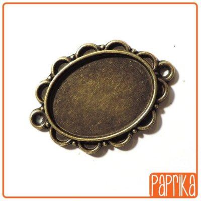 2 Connettori bronzo con base cameo