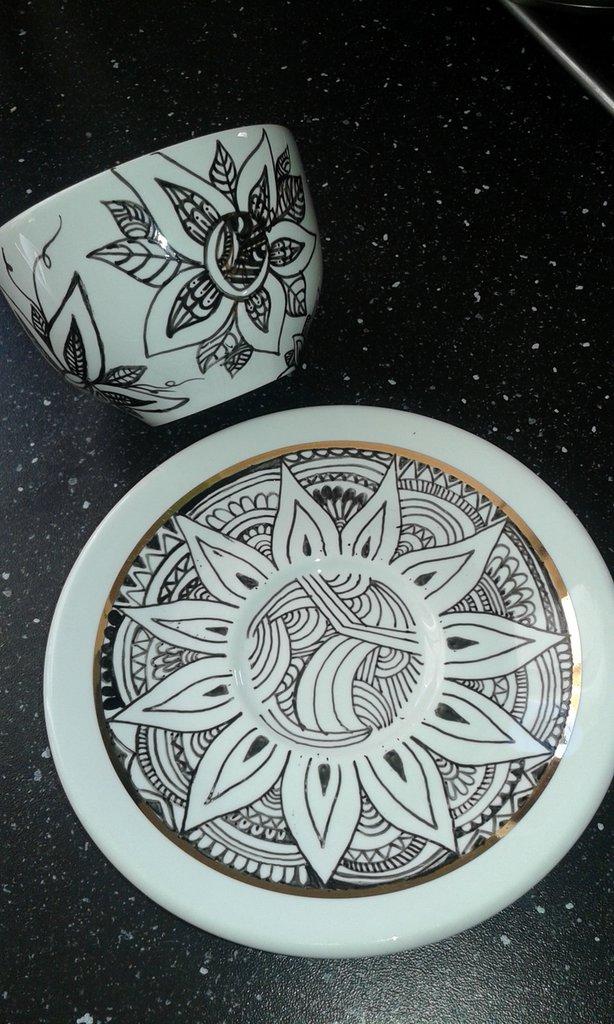 Tazze decorate/mandala Style
