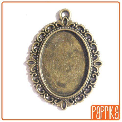 Ciondolo bronzo base per cameo 18x25mm