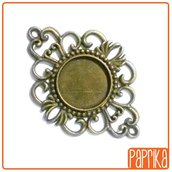 Connettore bronzo con base cameo 16mm
