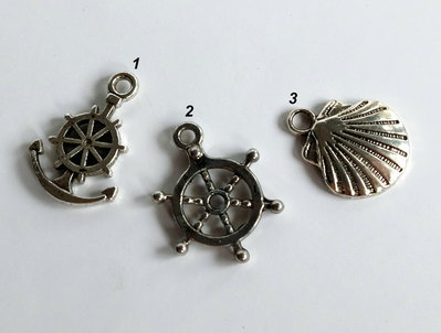 3 Ciondoli in argento tibetano  CIO74-79-81