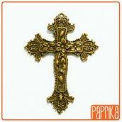 Ciondolo Croce grande bronzo