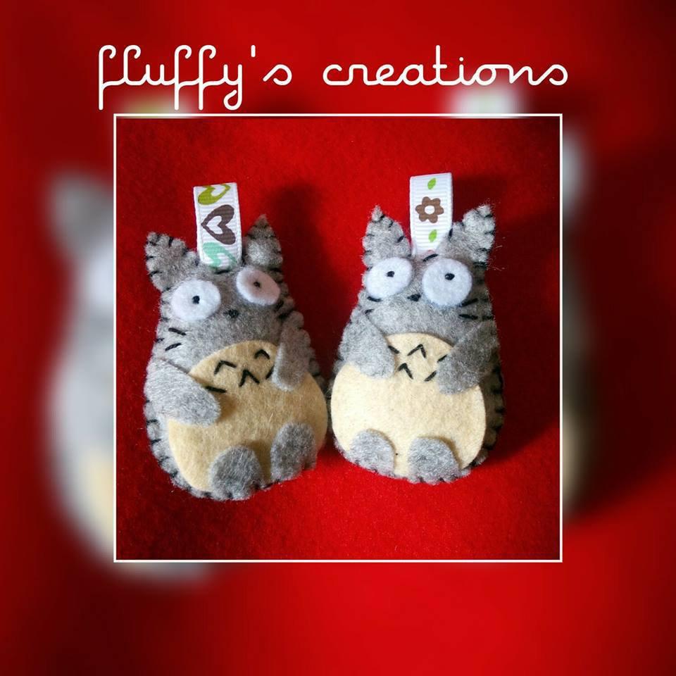Portachiavi Totoro in Pannolenci