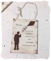 Idea regalo per la festa del papà:  targa in legno personalizzata