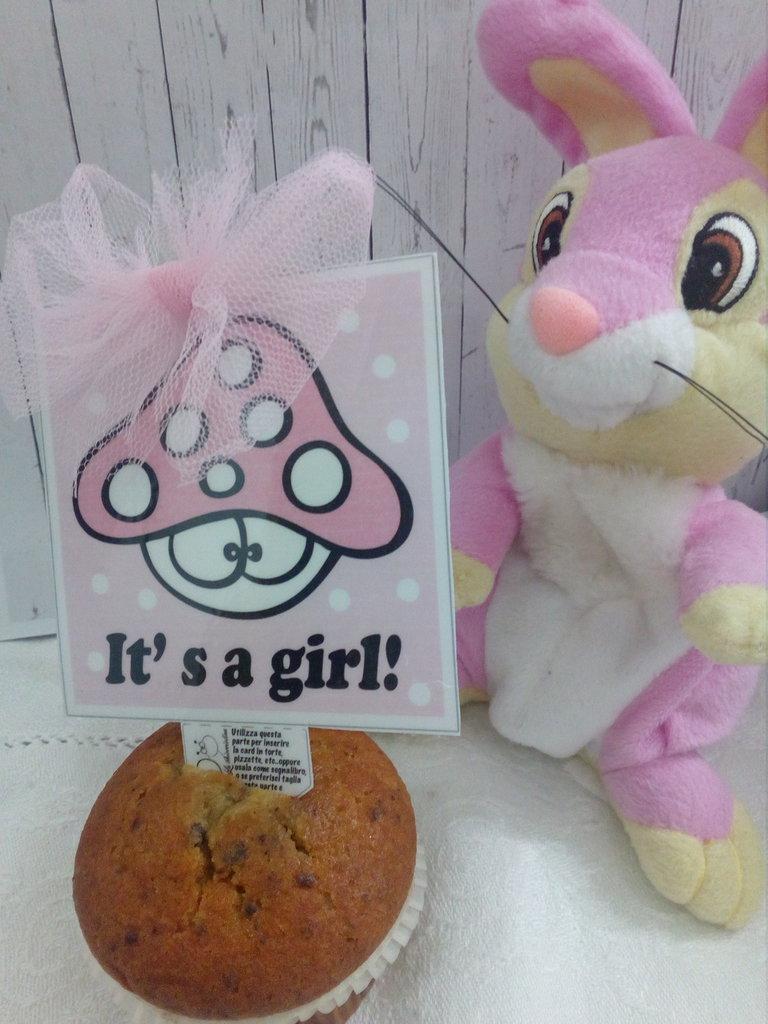 Biglietto d'auguri fatto a mano : It' s a girl!