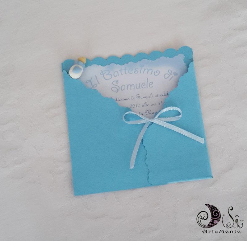 + 10 inviti card art biberon con busta