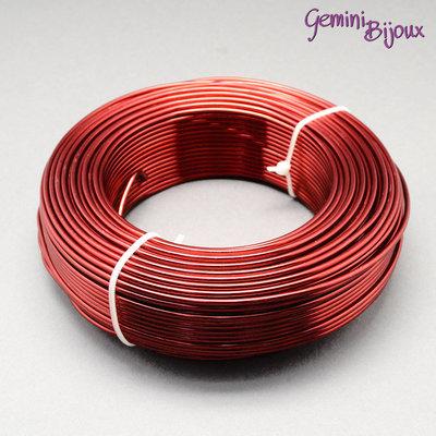 Lotto 1 metro Filo di alluminio 2 mm. rosso