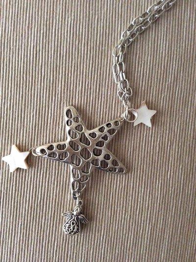 Collana con stella stelline e angiolino
