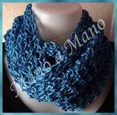 Scaldacollo in cotone - Blu Azzurro