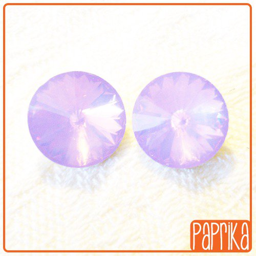 2 Rivoli Cabochon in resina 14mm