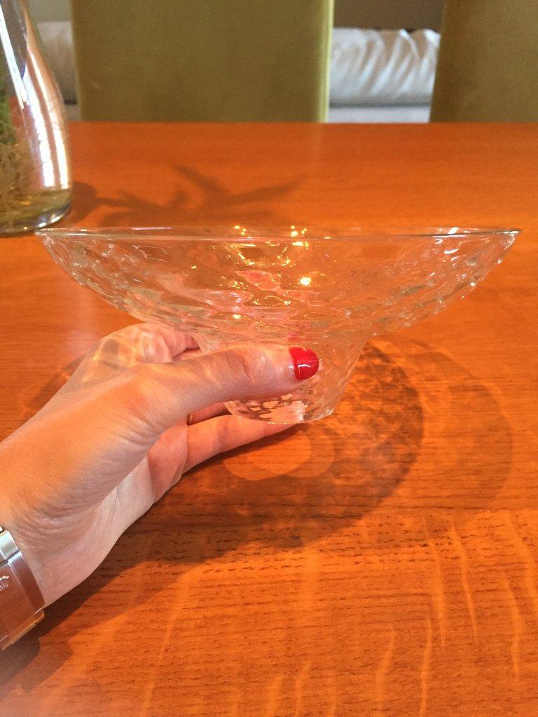 Tazza o bobèche , ricambio per lampadari di Murano, in vetro soffiato