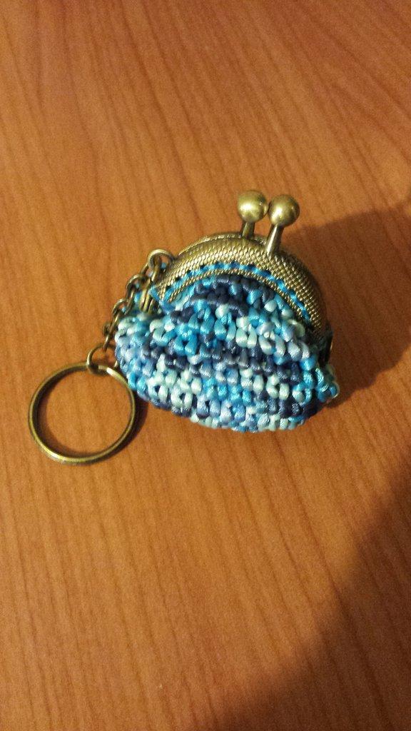 Portachiavi multicolor color azzurro e blu
