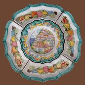 Cena fredda in ceramica vietrese Positano