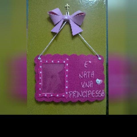 Cornice porta foto con targa da personalizzare