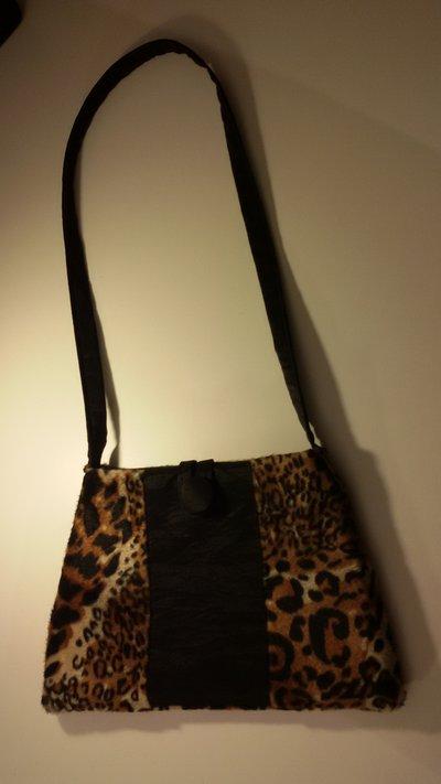 Borsetta con motivo leopardato