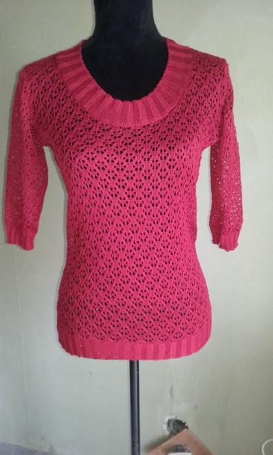 maglia cotone donna pizzo