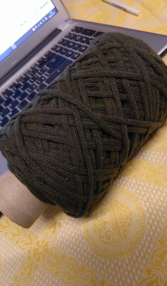 cordino lanato verde militare