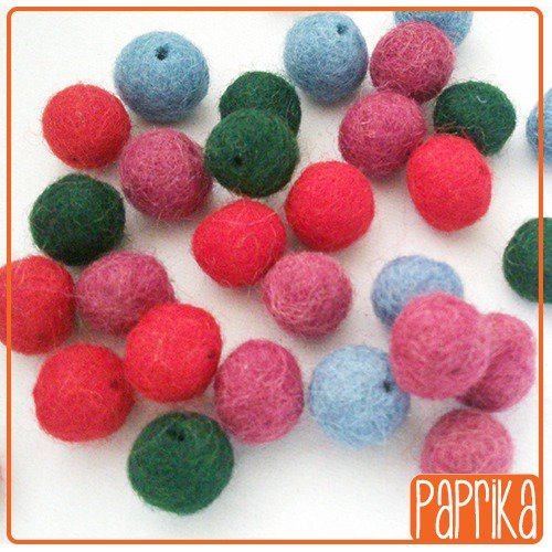 36 Perline mix feltro 10mm