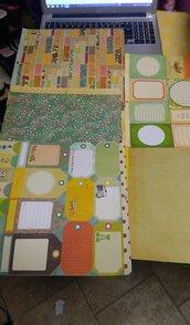 kit 4 blocco di fogli scrapbooking