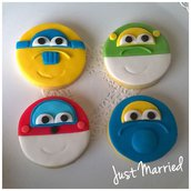 biscotti decorati a tema super wings